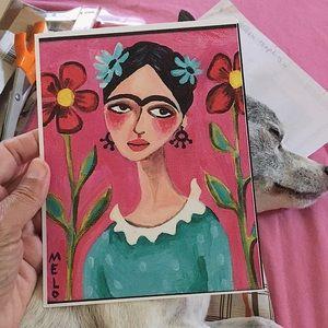 reproduction of a frida kahlo portrait meloearth